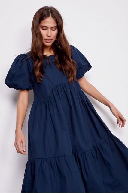 Платье синее Carla