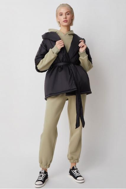 ODA жилетка с капюшоном, черный