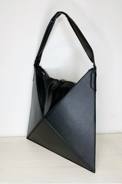 Черная складная сумочка-тоут оригами Tina
