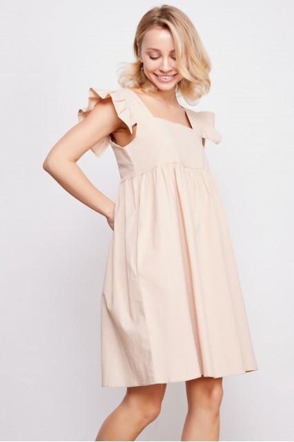 Платье бежевое Martine