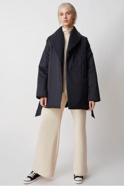С поясом куртка Ava, черный