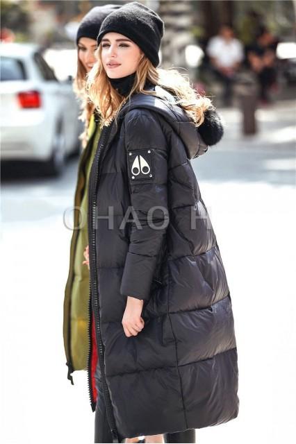 Женский пуховик BND с очками на капюшоне черный