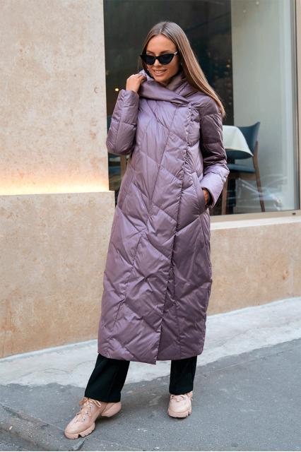 Пальто пуховое удлиненное Stem, лаванда