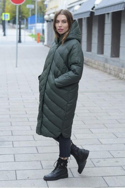 Пуховик-одеяло Ar зеленый