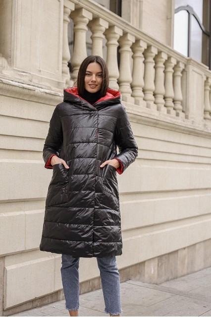 утепленная демисезонная куртка двухсторонняя