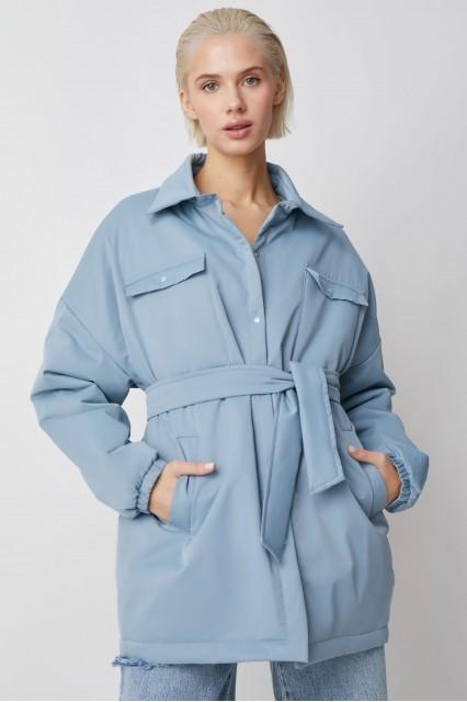 Куртка-рубашка голубой Amanda