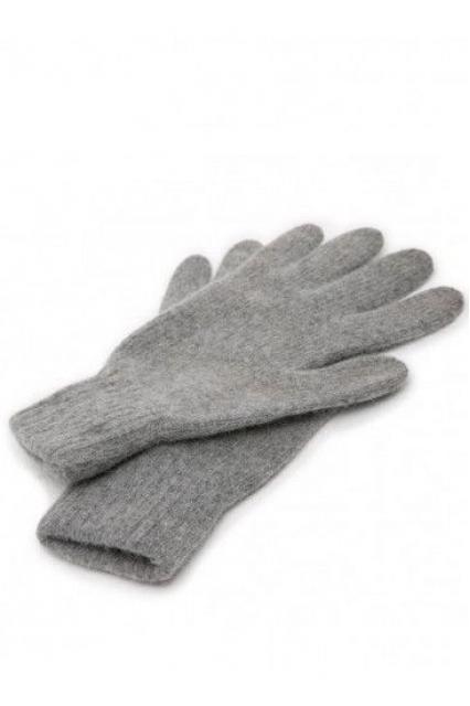 Перчатки из ангоры серые