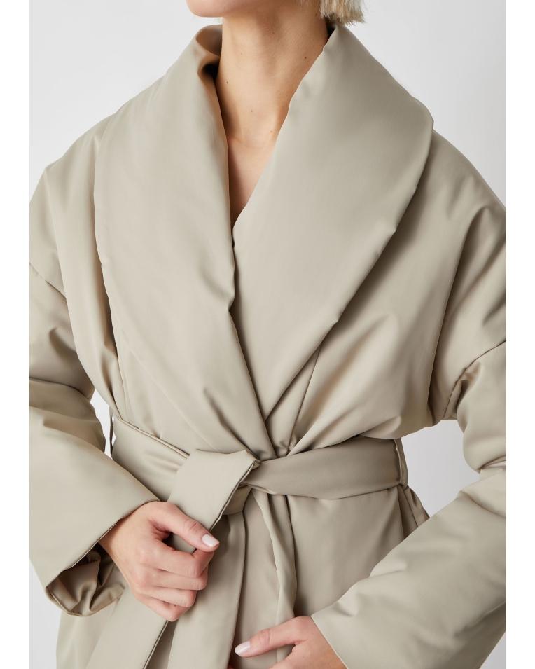 Куртка Ava беж с поясом