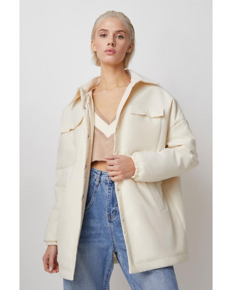 Куртка-рубашка Amanda, молочный