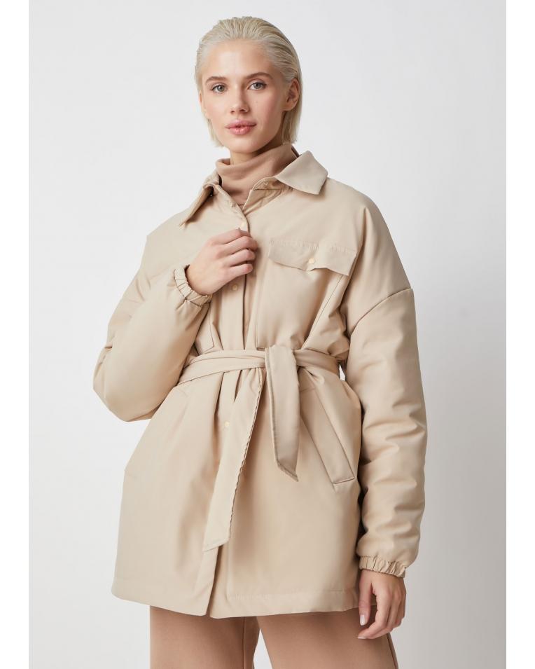 Рубашка-куртка беж Amanda