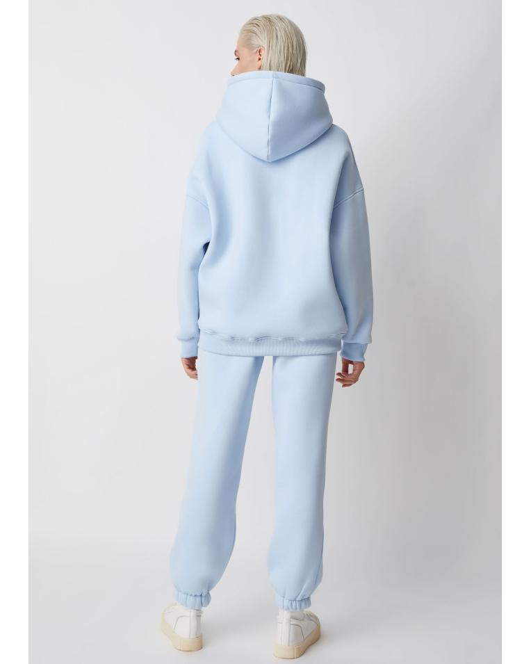 Хлопковый голубой костюм Lina