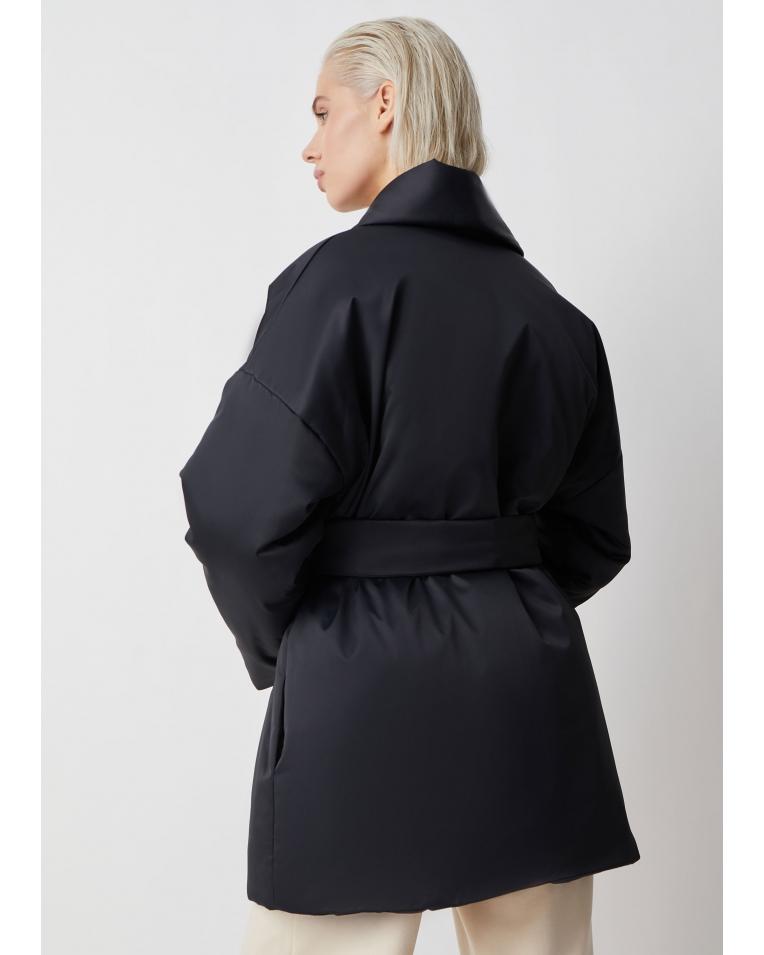 Куртка Ava с поясом, черный