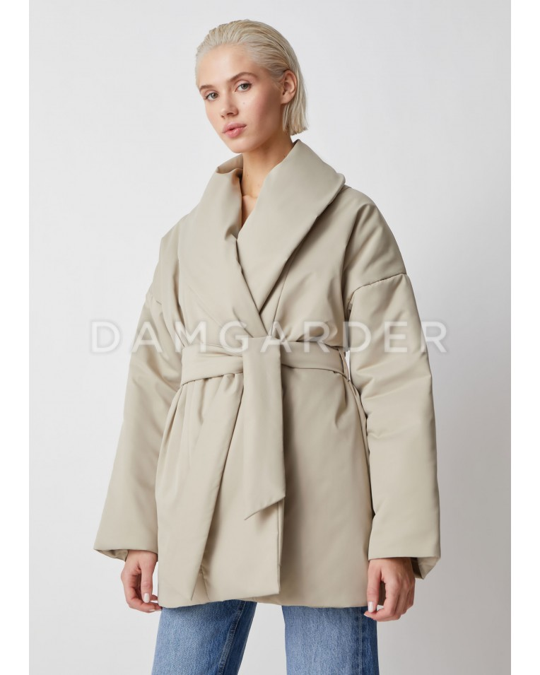 Куртка Ava с поясом, беж