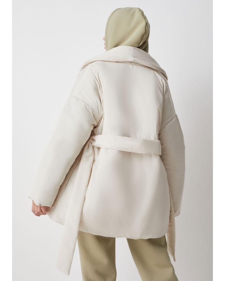 Ava куртка с поясом, молочный