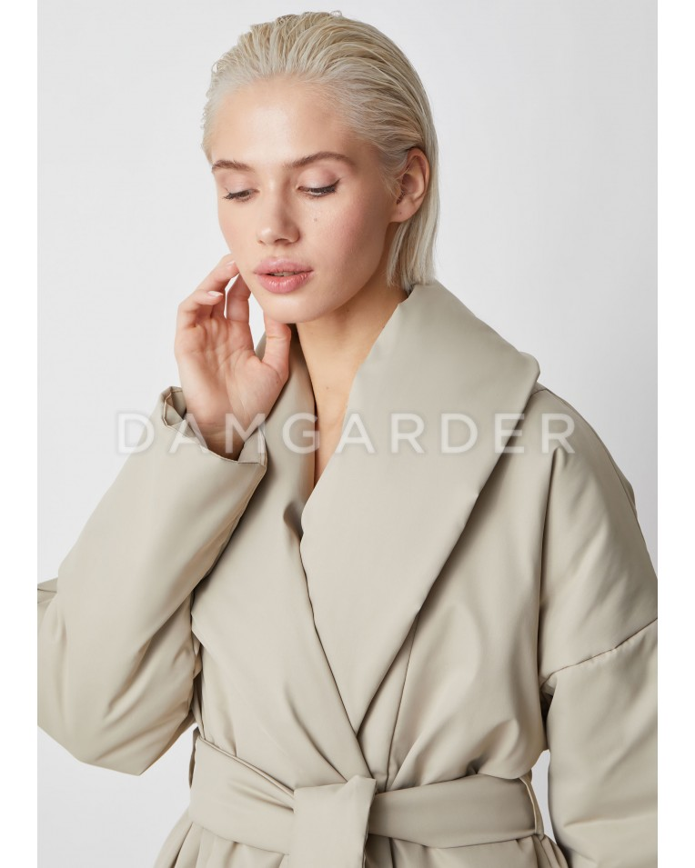 Ava куртка с поясом, беж