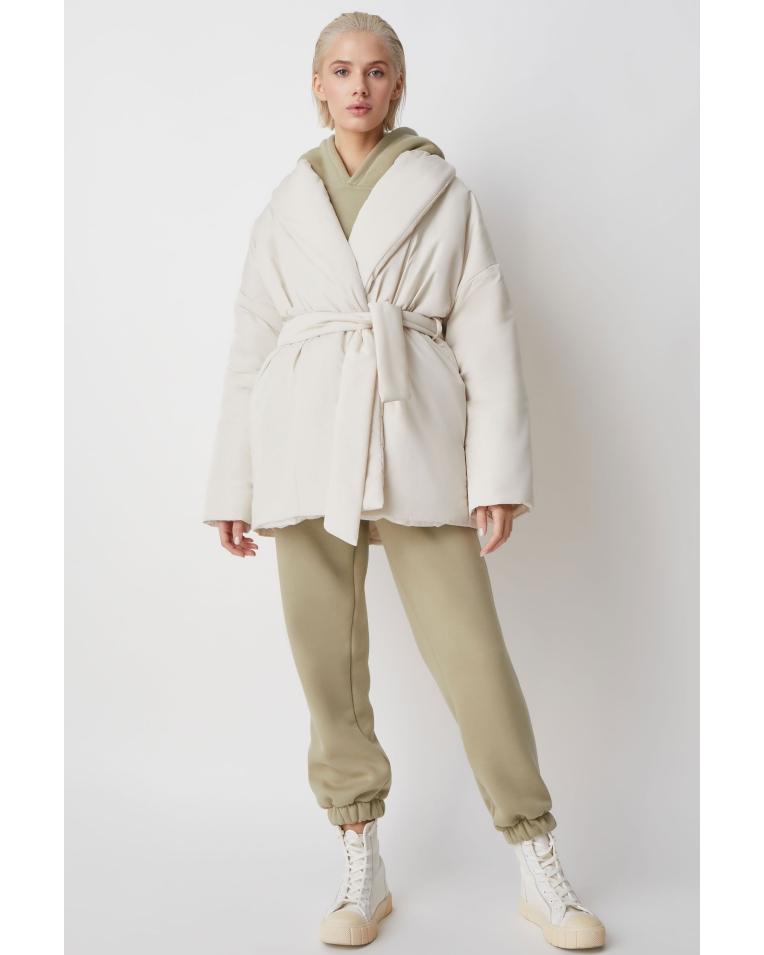 Куртка Ava с поясом, молочный