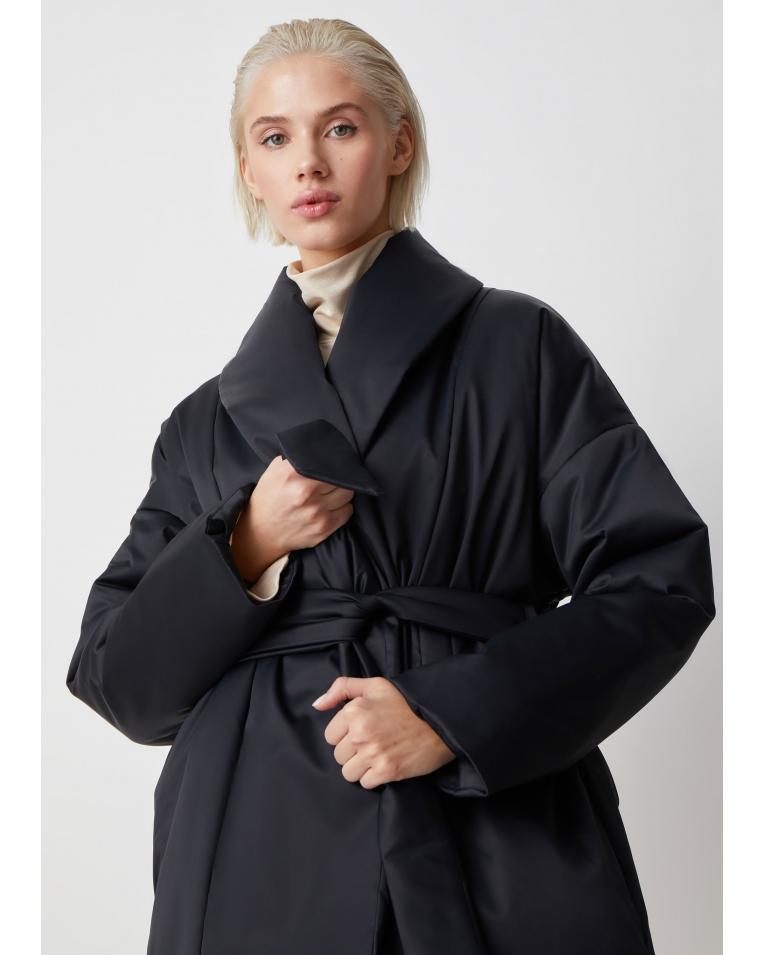 Куртка Ava черный с поясом