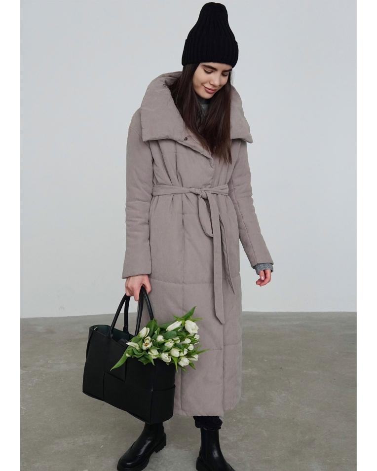 Беж зимнее пальто Nancy
