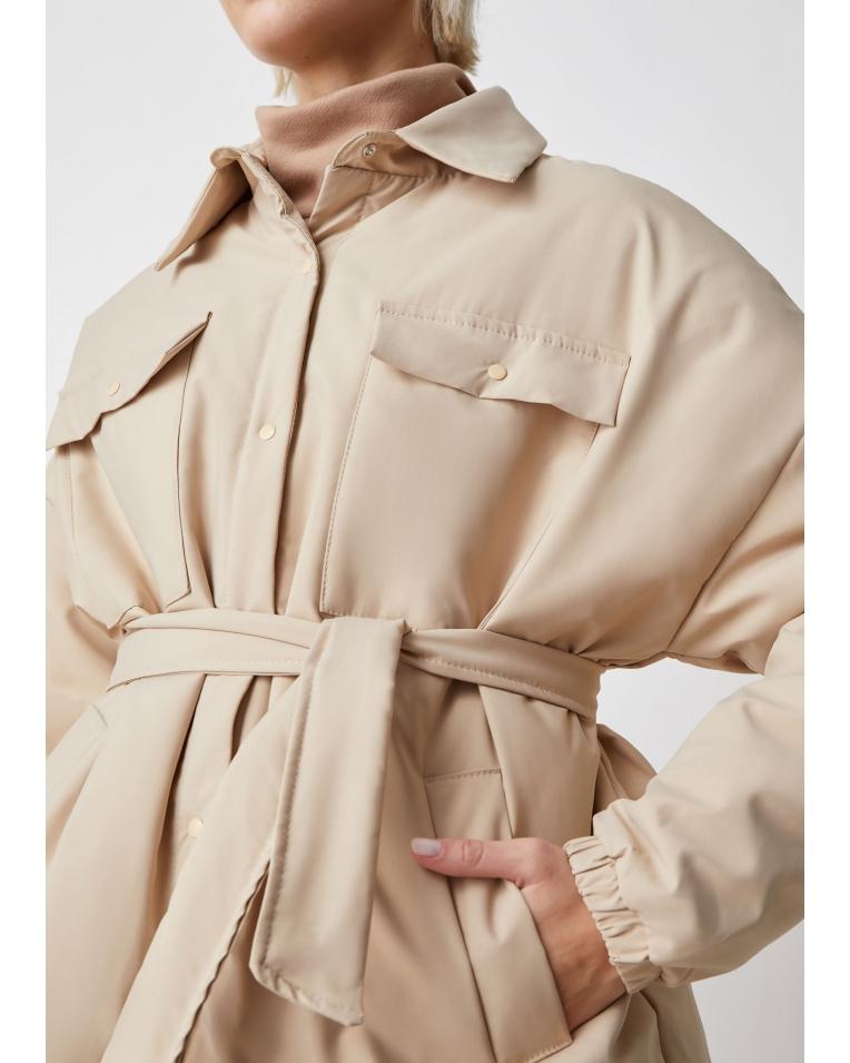 Amanda беж куртка-рубашка